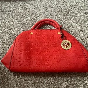 Red Christian lacroix purse